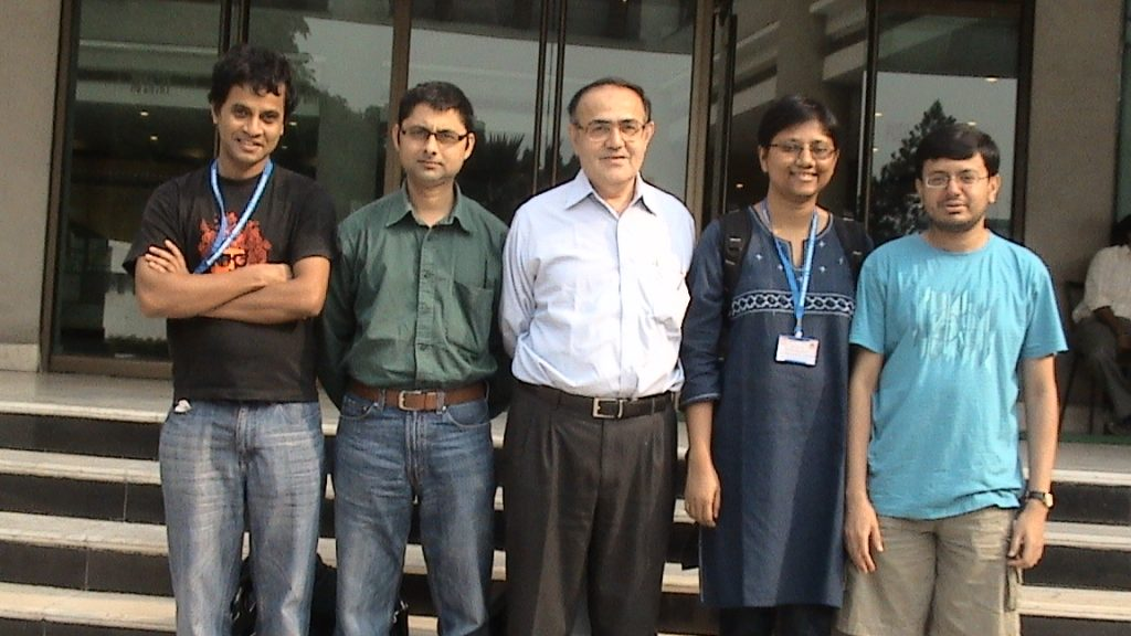 Picture taken at STATPHYS, Kolkata, November 26-30, 2010, with some ex-students of TIFR