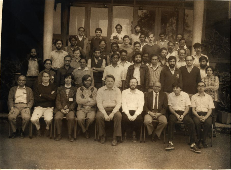 Group Photograph taken at Winter School in Theoretical Physics, Panchgani, 1986