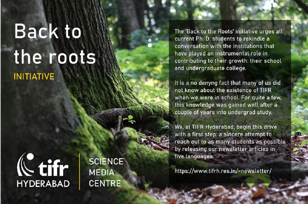 Back to the roots, a TIFR Hyderabad initiative